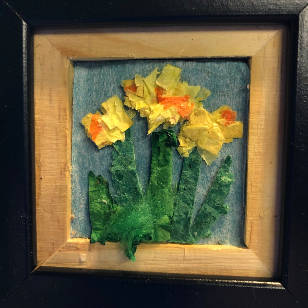 Paper collage of daffodils