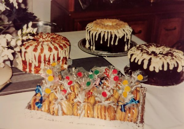 Dessert display from family party circa 1980s